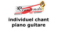 Cours Individuel Chant Piano ou Guitare